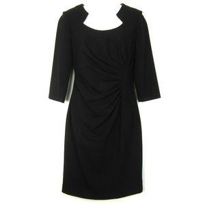 Calvin Klein 4 Ruched Sheath Career Dress Black